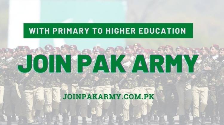 Join Pak Army After Matric, Intermediate(FA, FSc, ICS) Graduation and Masters
