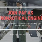 Join PAF as an Aeronautical Engineer