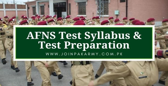AFNS Test Syllabus, Test Preparation as Armed Forces Nursing Service
