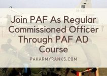 Join PAF As Regular Commissioned Officer Through PAF AD Course 2021