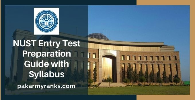 NUST Entry Test NET 2022 [Preparation Guide with Syllabus]